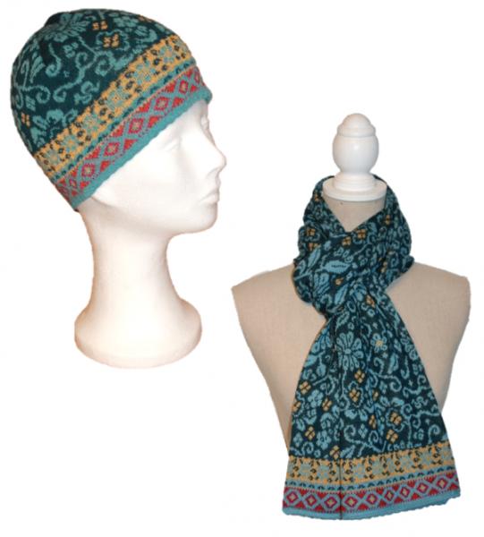 Alpaka Set Joane (Mütze und Schal)