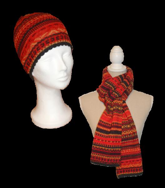 Alpaka Set Ilse (Mütze und Schal)