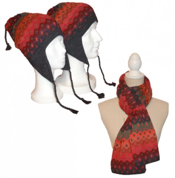 Alpaka Set Mariana (Mütze und Schal)