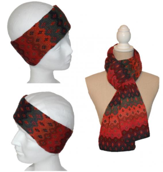 Alpaka Set Mariana (Stirnband und Schal)