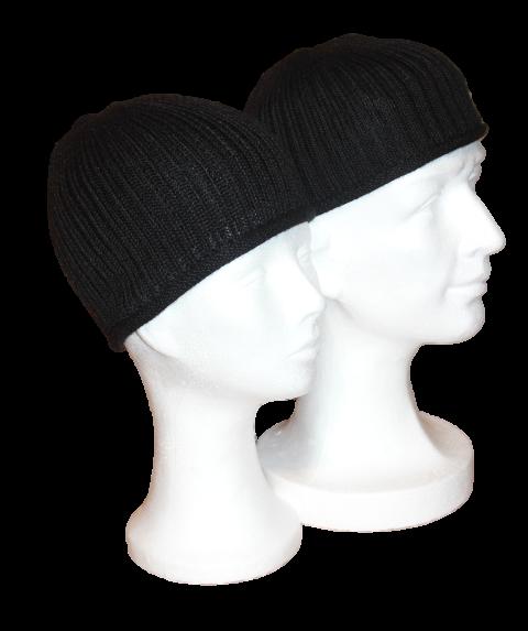 Alpaka Mütze Schwarz