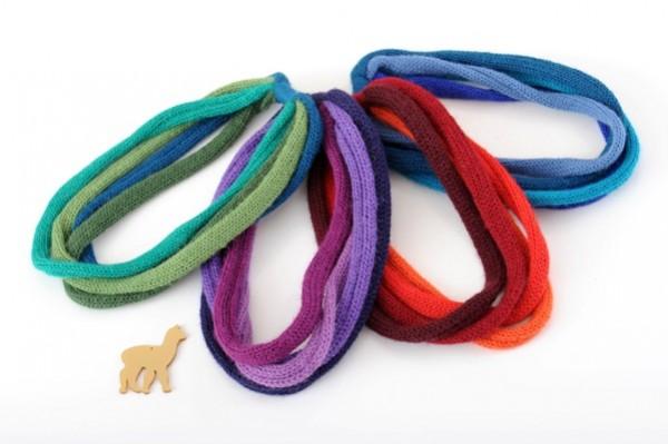 Alpaka Haarschmuck und Halskette