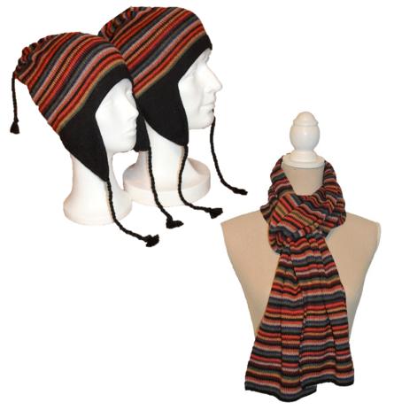 Alpaka Set Iris (Mütze und Schal)