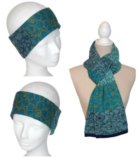 Alpaka Set Lisa (Stirnband und Schal)