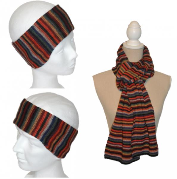 Set Iris (Stirnband und Schal)