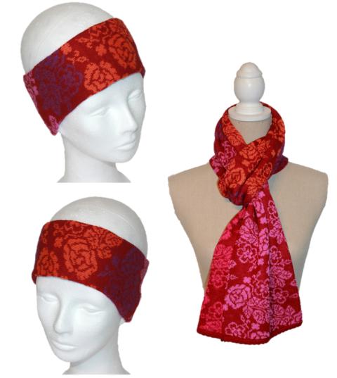 Set Angelika (Stirnband und Schal)