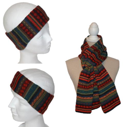 Alpaka Set Kai (Stirnband und Schal)