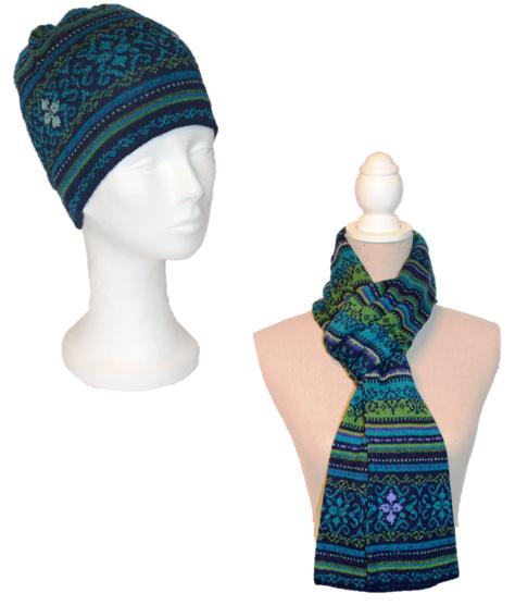 Alpaka Set Tina (Mütze und Schal)