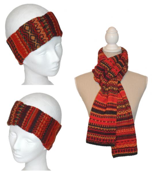 Alpaka Set Ilse (Stirnband und Schal)