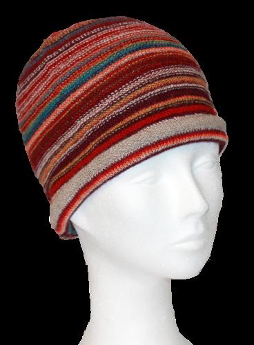 Alpaka Mütze Rainbow
