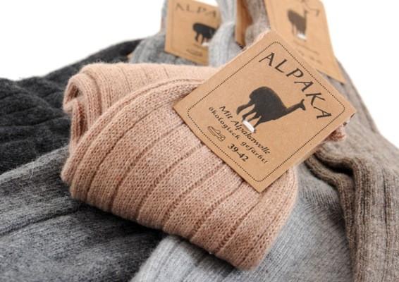 Alpaka-Socken dünn 1 Paar