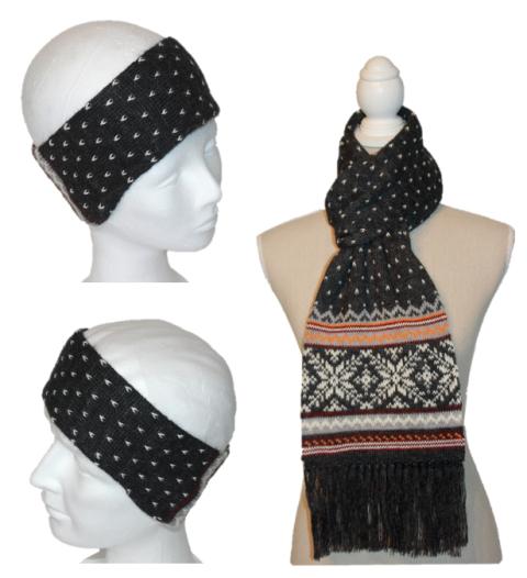 Alpaka Set Norwegen (Stirnband und Schal)
