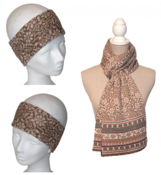 Alpaka Set Lucia (Stirnband und Schal)