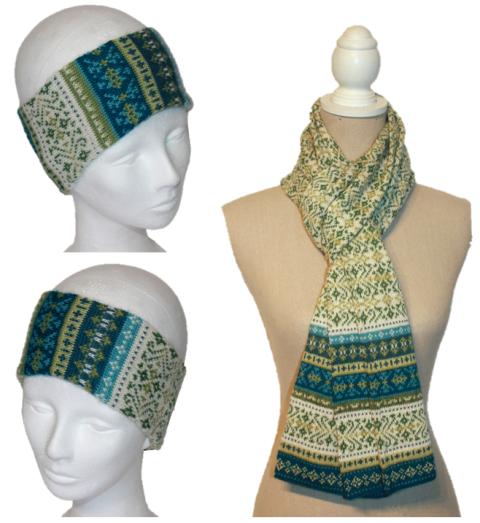 Alpaka Set Ursula (Stirnband und Schal)